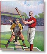 Baseball Game, C1895 Metal Print