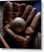 Baseball Glove Metal Print by Bob Nardi