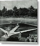 Baseball In 1846 Metal Print by Omikron