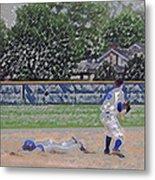 Baseball Playing Hard Digital Art Metal Print