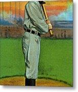 Baseball. Ty Cobb Baseball Card Metal Print