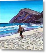 Basic Makapuu Metal Print