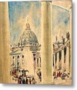 Basilica In Italy Metal Print