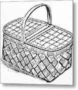 Basket, 19th Century Metal Print