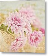 Basket Of Vintage Floral Goodness Metal Print