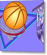 Basketball Metal Print