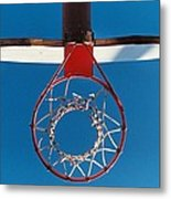 Basketball Goal Metal Print