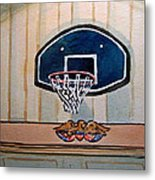 Basketball Hoop Sketchbook Project Down My Street Metal Print by Irina Sztukowski