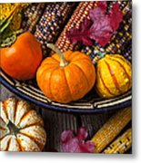 Basketful Of Autumn Metal Print