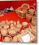 Basketwork Metal Print