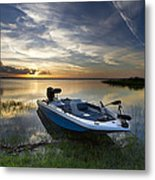 Bass Fishin' Evening Metal Print