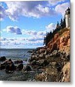 Bass Harbor Head Seascape Metal Print