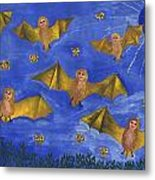 Bat People At The Pipistrelle Party Metal Print