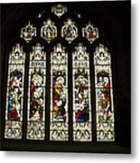 Bath Abbey Stained Glass Metal Print