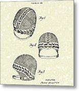 Bathing Cap 1936 Patent Art Metal Print by Prior Art Design