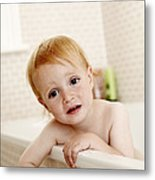Bathing Child Metal Print