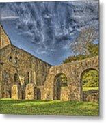 Battle Abbey Ruins Metal Print