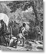 Battle Of Bloody Brook 1675 Metal Print