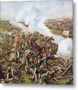 Battle Of Five Forks Virginia 1st April 1865 Metal Print by American School