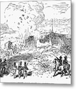 Battle Of Fort Erie, 1814 Metal Print