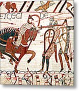 Battle Of Hastings Bayeux Tapestry Metal Print