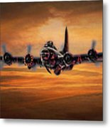 Battle Scarred But Heading Home Metal Print