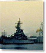 Battleship New Jersey Metal Print