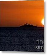 Battleship Sunset Metal Print
