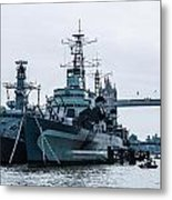Battleships And Tugboat Metal Print