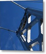 Bay Bridge And Blue Sky, San Francisco Metal Print by Jamie Jennings www.JJphotos.ca