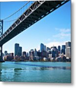 Bay Bridge And Embarcadero Metal Print by Lily Chou