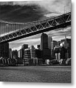 Bay Bridge And San Francisco Downtown Metal Print