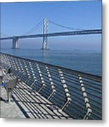 Bay Bridge From New Pier Metal Print