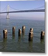 Bay Bridge On A Clear Day Metal Print