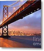 Bay Bridge To San Francisco Metal Print