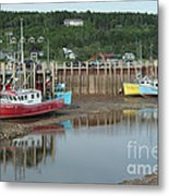 Bay Of Fundy - Low Tide Metal Print