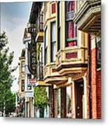 Bay Windows Metal Print