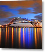 Bayonne Bridge Metal Print by Paul Ward