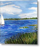 Bayville Marsh Metal Print