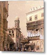 Bazaar Of The Coppersmiths Cairo Metal Print