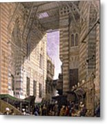 Bazaar Of The Silk Mercers Metal Print