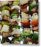 Bbq Grilled Vegetables Metal Print