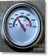 Bbq Thermometer Metal Print