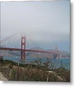 Be In A Mist - Golden Gate Bridge Metal Print