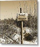 Beach Access Metal Print