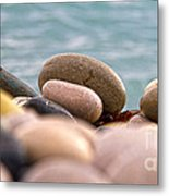 Beach And Stones Metal Print by Stelios Kleanthous