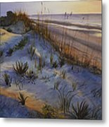 Beach At Dusk Metal Print