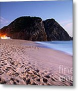 Beach At Evening Metal Print by Carlos Caetano