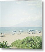 Beach At Wailea  Metal Print