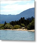 Beach Biking Lake Tahoe Metal Print